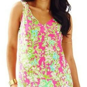 NEW Lilly pulitzer southern charm silk top L